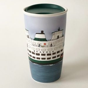 HTF Starbucks Seattle Ferry Ceramic Tumbler 10 oz
